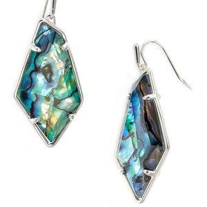 NWT Kendra Scott Silver Emmie Earrings in Abalone!